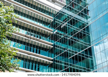 The building wall glass and refletion Foto stock ©