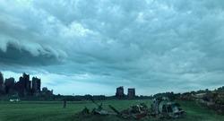 The burning city. Apocalypse.