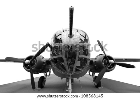 The business end of A B25J Mitchell bomber
