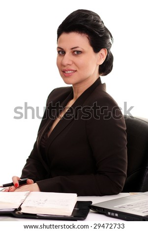 The business young woman