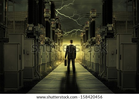 The businessman in a difficult and long journey in life
