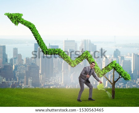 The businessman in responsible ecological business #1530563465