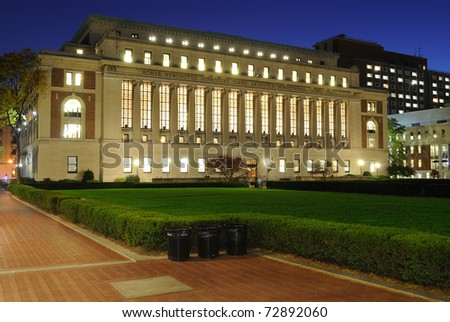 The Butler Library at Columbia University in New York City.
