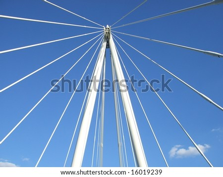 The Cables Supporting a Suspension Bridge. #16019239