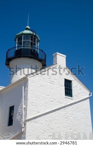 The Cabrillo Lighthouse near San Diego - stock photo