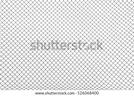the cage metal net on white background #526068400
