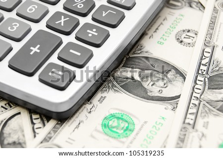 The calculator and money .