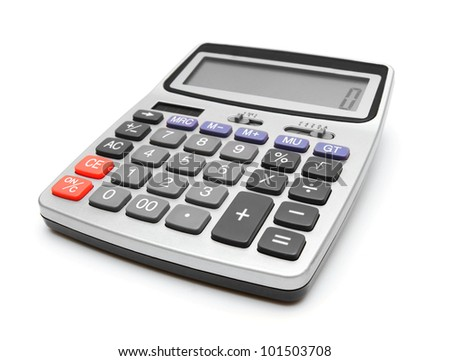 The calculator. On a white background.