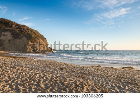 The California Coast and Cliffs During Sunset