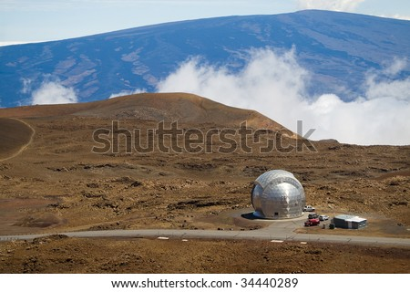 The Caltech Submillimeter Observatory atop the Mauna Kea volcano in Hawaii Big Island.