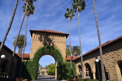 The campus of the Stanford University, California, America