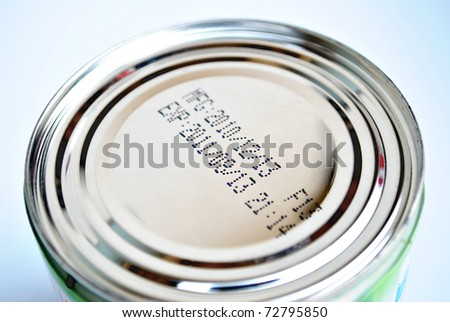 The can is on the white background