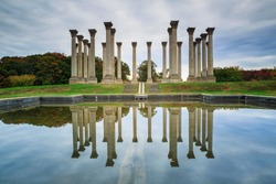 The capitol columns are a major tourist attraction at the National Arboretum open daily to the public in Washington, DC.