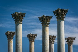 The Capitol Columns at the National Arboretum in Washington, DC.