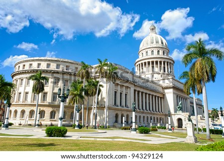The Capitol of Havana in a very sunny day