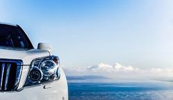 The car close up. Siberian highlands of. Sayan