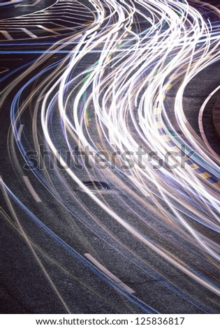 The car light trails
