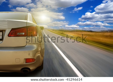 The car on highway