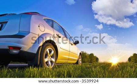 The car on the nature