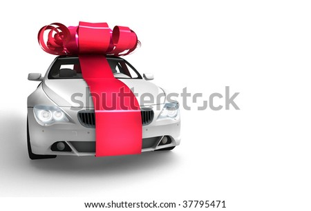 The car with a bow