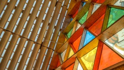 The Cardboard Cathedral Interior, Christchurch, NZ