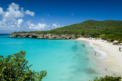 The caribbean beach of Abou beach at Curacao, Netherland Antilles.