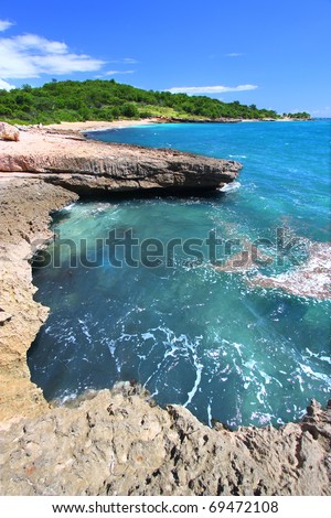 The Caribbean coastline at Guanica Dry Forest Reserve - Puerto Rico