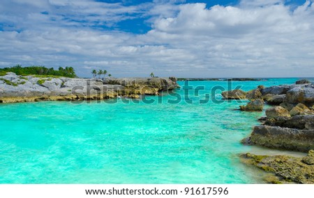 The caribbean ocean laguna