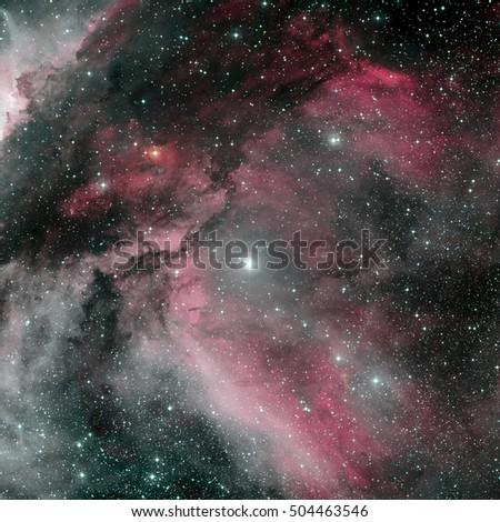 The Carina Nebula or Eta Carinae Nebula or Grand Nebula is a large bright nebula that surrounds several clusters of stars. Elements of this image furnished by NASA.