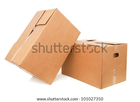 the carton boxes on packing