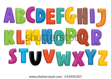 The cartoon alphabet - for the children