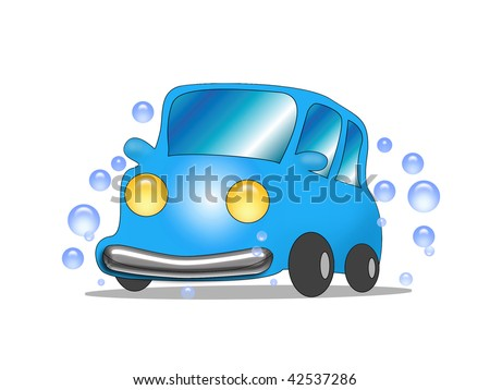 cartoon car wash clip art. The cartoon blue car wash