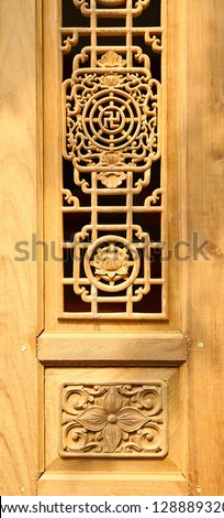 The Carving wood of window chinese style
