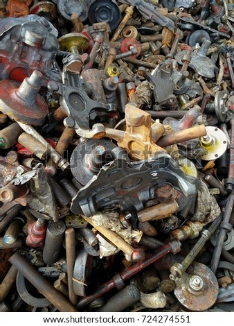 The cast iron waste of the automobile parts   #724274551