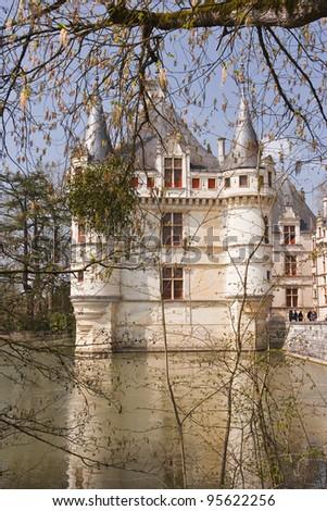 The castle of Azay-le-Rideau in France.