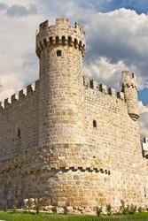The Castle of Cartagena, a town of Sasamon Olmillos, Burgos, Spain (XV century).