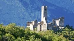 The castle of drena in Italy