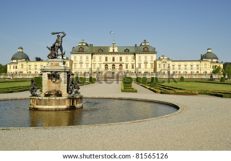 The castle of Drottningholm in Stockholm, Sweden - summer residence of the swedish royal family.