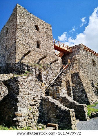 The castle of Szigliget, Hungary near lake Balaton Stock photo ©
