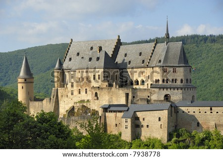 The castle of Vianden in Luxembourg, Europe