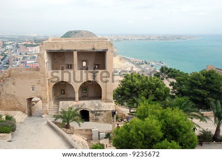 The castle Santa Barbara in Alicante, Spain