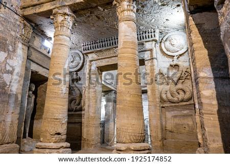 The catacombs kom el shoqafa, top tourism sights in Alexandria Egypt