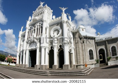The cathedral Basilica de Nuestra Senora de los Angeles in Cartago in Costa Rica