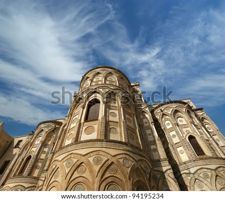 Roman Catholic Church In Italy http://www.shutterstock.com/pic-94195234/stock-photo-the-cathedral-basilica-of-monreale-is-a-roman-catholic-church-in-monreale-sicily-southern-italy.html
