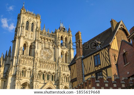 The Cathedral Basilica of Our Lady of Amiens, France Photo stock ©