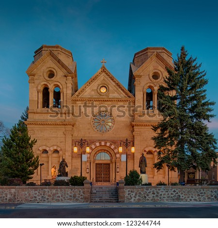 The Cathedral Basilica of Saint Francis of Assisi, commonly known as Saint Francis Cathedral, is a Roman Catholic cathedral in Santa Fe, New Mexico