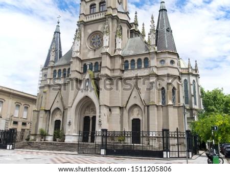 The Cathedral Basilica of Saint Peter and Cecilia called in Spanish Basílica Catedral de los Santos Pedro y Cecilia, is a Roman Catholic church building in Mar del Plata, Argentina, South America Zdjęcia stock ©