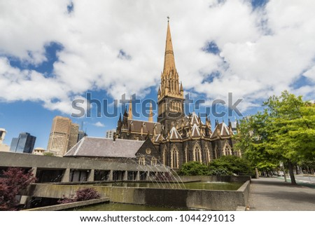 The Cathedral Church and Minor Basilica of Saint Patrick (colloquially St Patrick's Cathedral): church of the Roman Catholic Archdiocese of Melbourne in Victoria, Australia