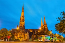 The Cathedral Church and Minor Basilica of Saint Patrick in Melbourne, Australia