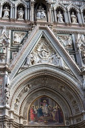 The cathedral complex, in Piazza del Duomo, includes the Baptistery and Giotto's Campanile. These three buildings are part of the UNESCO World Heritage Site covering the historic centre of Florence